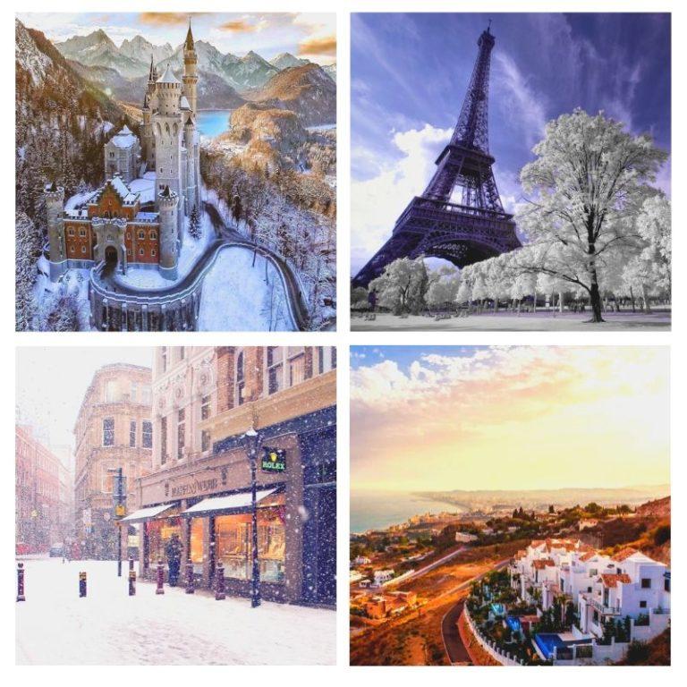 европа зимой