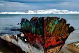 заброшенные корабли в териберке